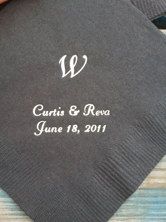 50 personal napkins Beverage size wedding engagement party Beverage size