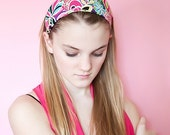 Stretch Colorful Bright Wide Soft Head Wrap, Turban