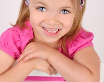 Girls Headband Only- Sparkle Brown and Pink