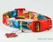 Hot Floral - Dog Collar - Adjustable