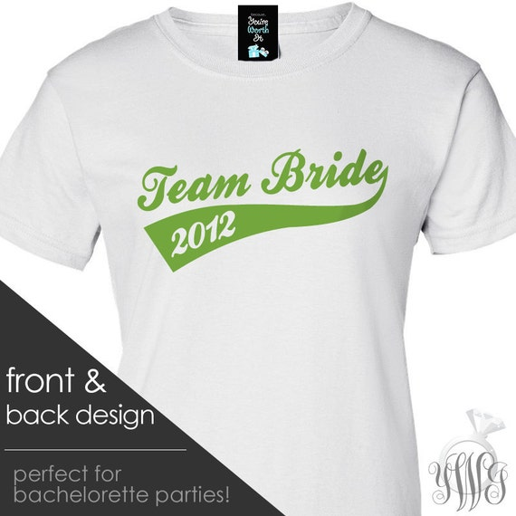 Bachelorette Party Group Tshirts Personalized Team Bride