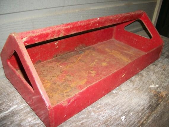 Craftsman red metal tool tray