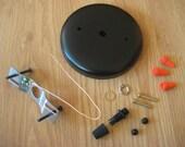 Plain Round Ceiling Canopy and Hardware Kit for Pendant Lights - Satin Black, White, Satin Nickel