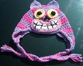 Cheshire Cat Hat - Alice in Wonderland - All Sizes - Crochet - Photo Prop