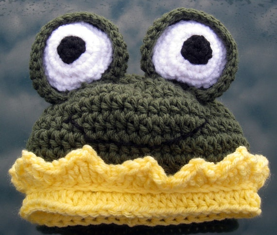 Prince Charming Hat with fun frog, frog hat, Photo Op, Pattern