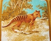 Souvenir Australian Tablecloth with Extinct Wildlife
