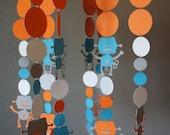 Robot Crib Mobile Kit - Orange, Aqua, White, Grey