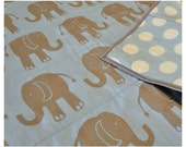 elephant quilt in blue