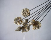 7 Assorted Silver & Ivory Headpins