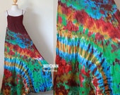 Funky Sexy Tie Dye Colored Cotton Maxi Dress : Exotic Collection