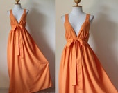 Elegant Yellow Orange Bridesmaid Cocktail Evening Cotton Dress : Love Party Collection