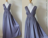 New Arrival - Classy Elegant Deep V-Shape Sleeveless  Gray Formal Long Evening Dress : Keerati My Endless Love  Collection