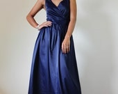 Navy Blue Bridesmaid dress - Maxi dress Classy  V neck Sleeveless Long Evening Gown: Bussaba My Endless Love  Collection