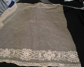 Piece of Victorian Lace and Net Curtain