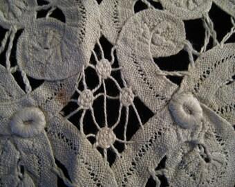 Vintage Cotton  Battenburg Lace Collar, Vintage Lace, Vintage Collar, Vintage Accessory, Vintage Battenburg Lace, Vintage Sewing Supplies