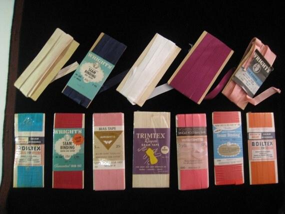 Vintage Assorted Seam Bindings and Bias Tape