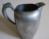 Antique Old Colonial Pewter Pitcher