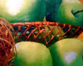 Green Apples Painting • Oil Painting • Original Art • Oil Paintings • Daily Painters • Daily Painting • Green Apples
