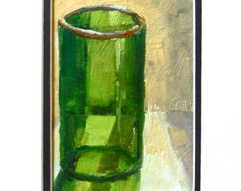 Oil Paintings • Original Art • Oil Painting • Daily Painter • Daily Painting • Green Glass