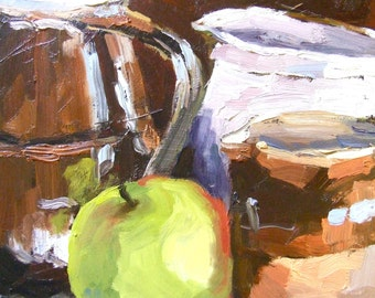 Oil Painting • Original Art • Oil Paintings • Daily Painters • Daily Painting • Green Apple •