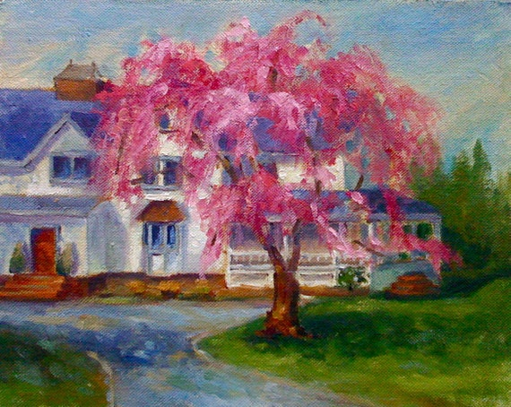 Plein Aire Painting • Original Art • Oil Paintings • Daily Painters • Daily • The Hamptons in the Spring