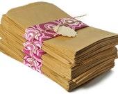 Kraft paper gift bags flat candy bag   150 flat merchandise bags   Weddings favor bags   Brown Paper bags