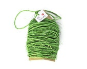 Colored twine lime green rough sisal cord 1mm thin. 15 yards natural rope string supplies