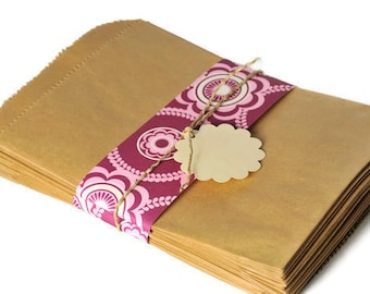 Kraft paper gift bags Candy buffet favor bags. 100 Treat bag FDA compliant candy bag. Wedding favors Bridal Showers Baby Showers Candy treat