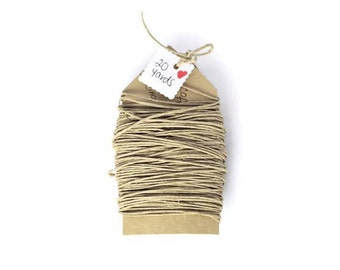 Natural hemp cord jewelry twine cord biodegradable string. Gift wrapping ties natural Kraft