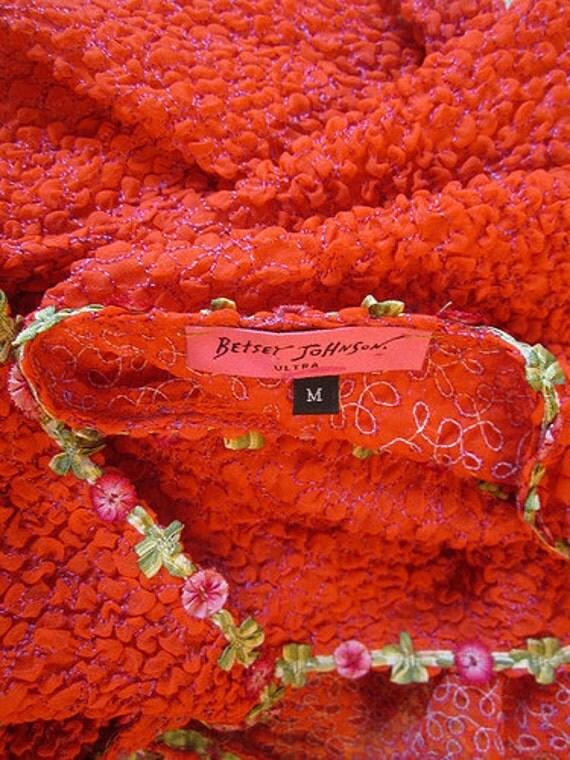 Sale Tuxedo Tails Betsey Johnson Ultra Orange Floral Jacket
