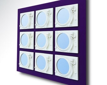 Erotica - Technics Turntable Inspired Mirror Sculpture - White & Purple  - Original Contemporary British Art