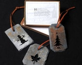 Reclaimed Vermont Slate Ornaments