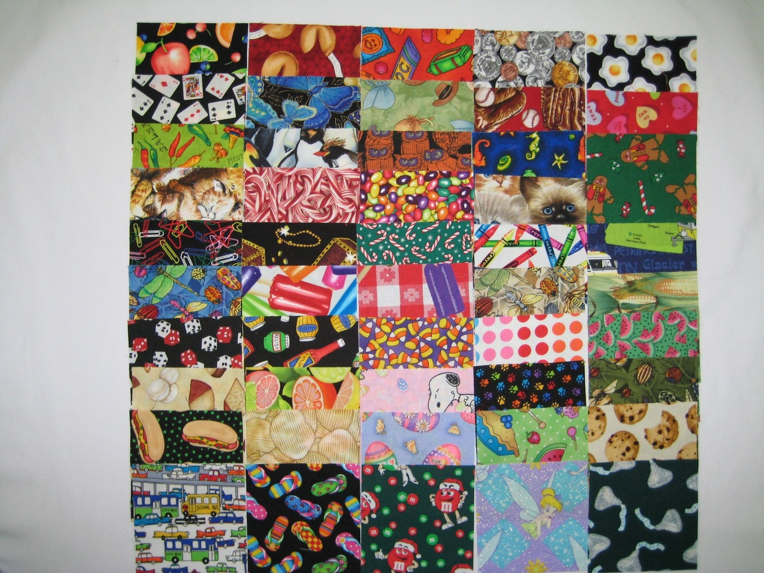 100 4 i spy kids novelty fabric quilt squares 2 by manahawkin for Kids novelty fabric