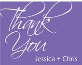 50 Custom Wedding / Personalized / Any Occasion Folded Thank You cards with envelopes - hundreds of designs available