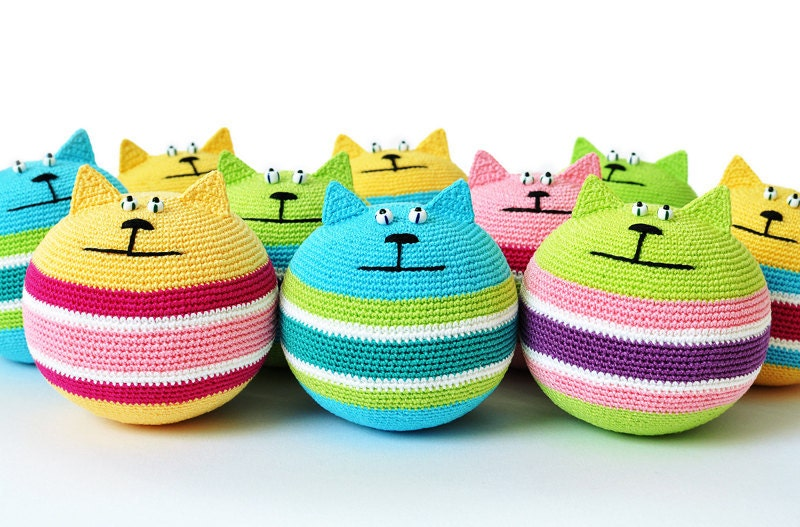 Crocheting Relieves Stress : PDF PATTERN Stress Relief Cat crochet amigurumi by sashakulakova