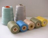 7 Thread Cones and Spool Lot of 7 Conso Mastex Industrial Spools Treasury Item from The Back Part of the Basement