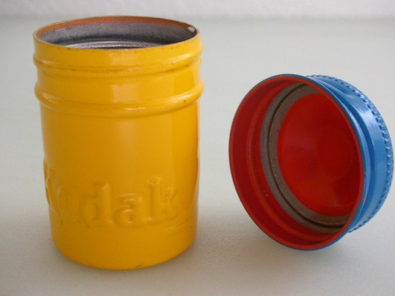 Kodak Film Canister-Metal Advertising-Treasury Item from The Back part of the Basement