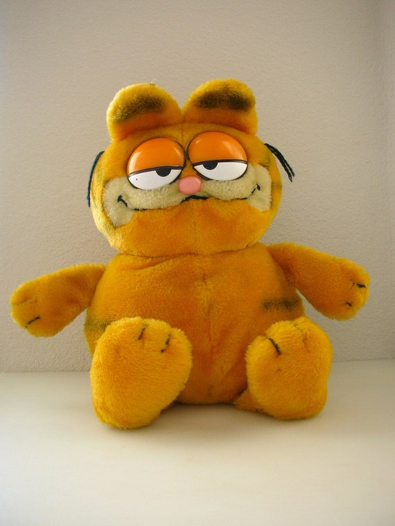 Stuffed Garfield LARGE Sitting Stuffed Animal Doll from The Back part of the Basement