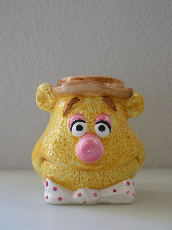 Muppets Fozzie Bear Figural Ceramic Mug EXCELLENT Condition from The Back Part of the Basement