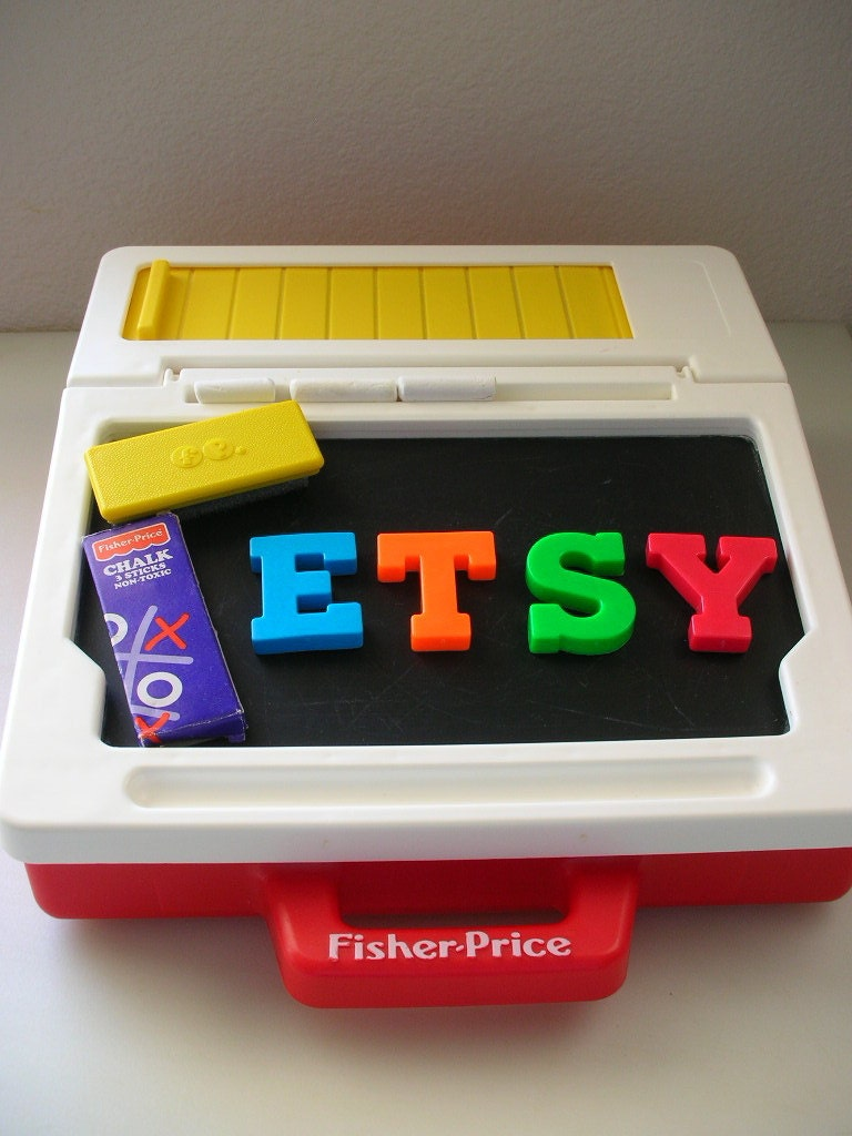 Fisher Price Carry Play Desk Chalk Magnetic Board Letters