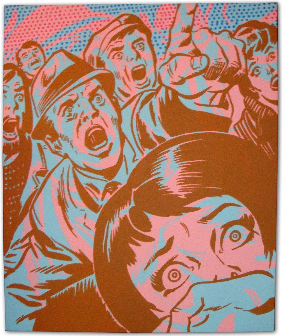 Retro Superhero Art: Vintage Comic Book Pop Art Painting