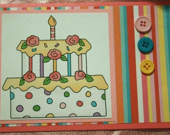 Birthday Cake Card  20120397