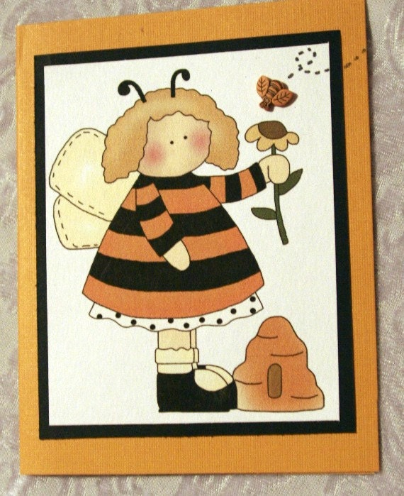 Angel Girl with Bee Hive 20120187