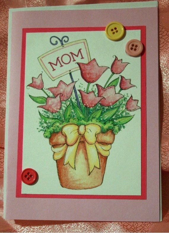 Pink Tulips Mother's Day Card 20120248