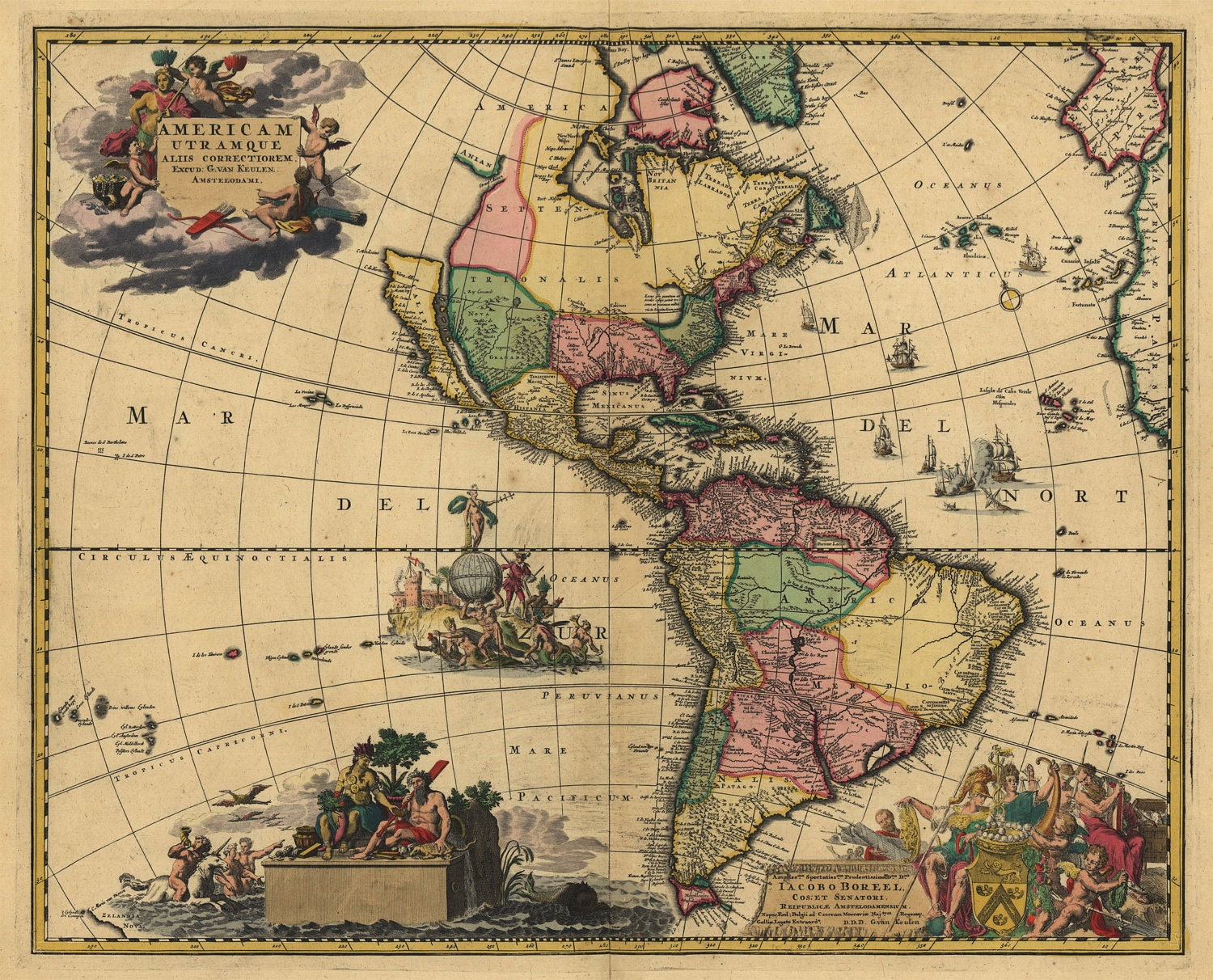 vintage framed maps with 1700s Map Of North South America on Vintage Clip Art New Years Bird Jewish Option furthermore Wine Map Of France further MABztlgZ 28 Thank You Card also Mapas Del Mundo Fuera De Lo  un likewise License Plates Of The Usa Our Colorful American History Design Turnpike.