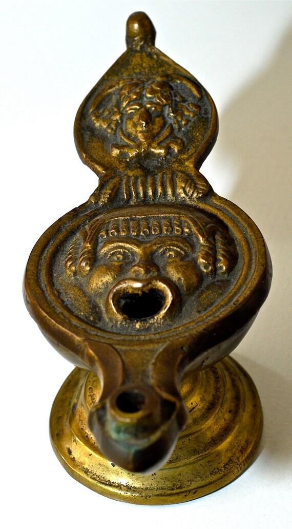 RESERVED UNTIL JAN 3 for Joolaholic: Antique Brass Oil Lamp/Incense Burner