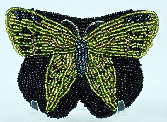 Reserved for Sandi: Vintage 1970s Beaded Neiman Marcus Butterfly Purse
