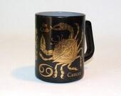 Black & Gold Cancer Coffee Mug by Federal Glass