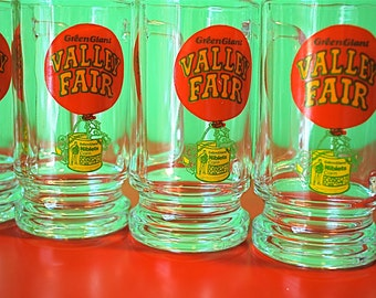 Green Giant Valley Fair Drinking Glasses Set of 4