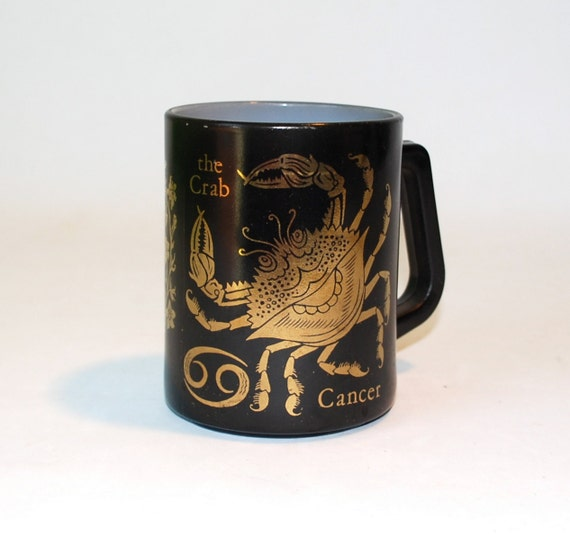 Black & Gold Cancer Coffee Mug by Federal Glass